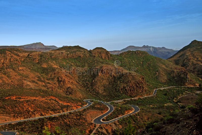Montanhas de Gran Canarino imagem de stock royalty free