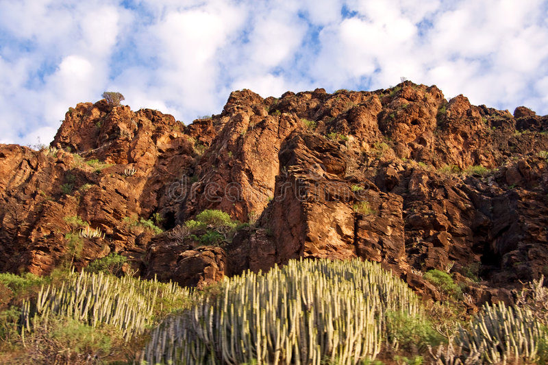 Montanhas de Gran Canarino fotos de stock royalty free