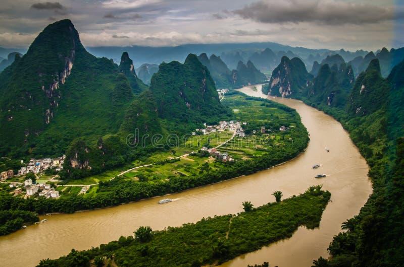 Montanhas de Guilin fotografia de stock