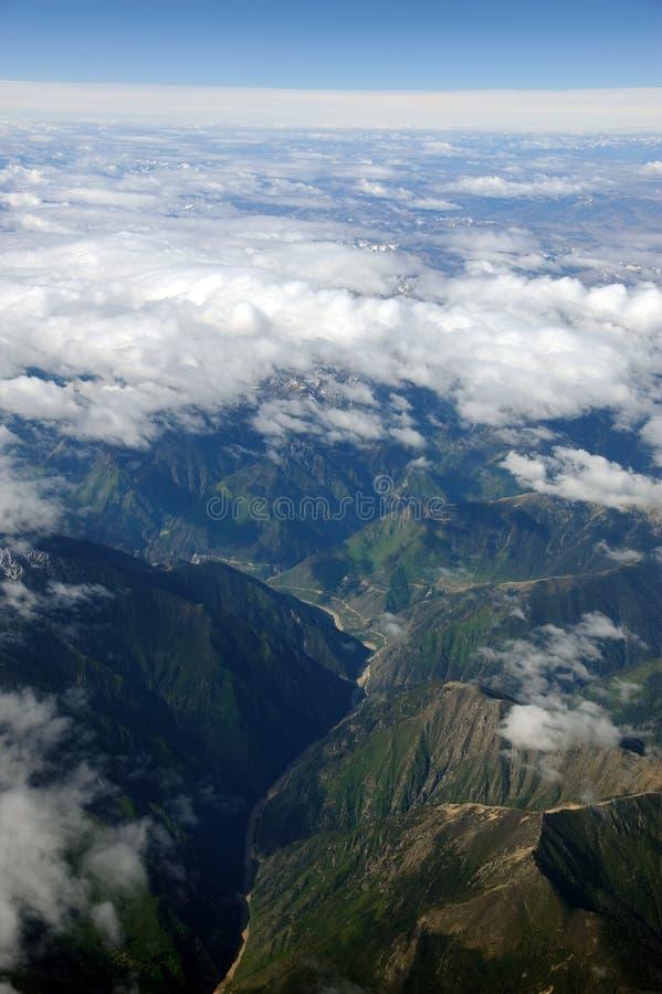 Montanhas de Himalaya de Tibet imagens de stock royalty free