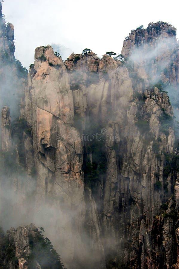 Montanhas de Huangshan fotos de stock royalty free