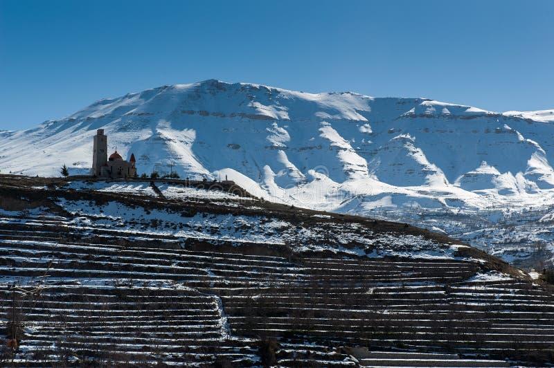 Montanhas de Líbano fotos de stock