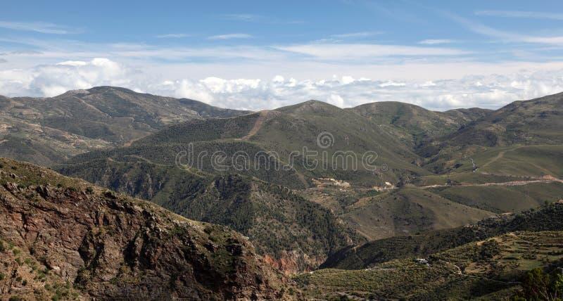 Montanhas de Las Alpujarras em Spain fotografia de stock royalty free