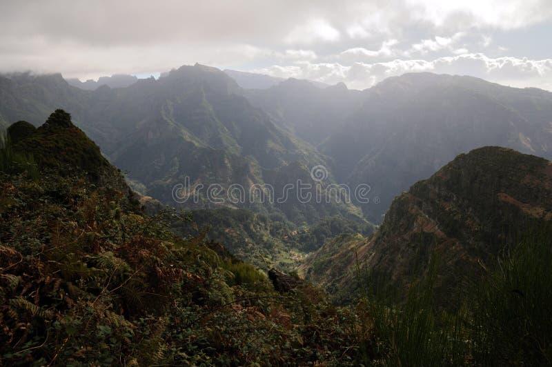 Montanhas de Madeira fotos de stock royalty free