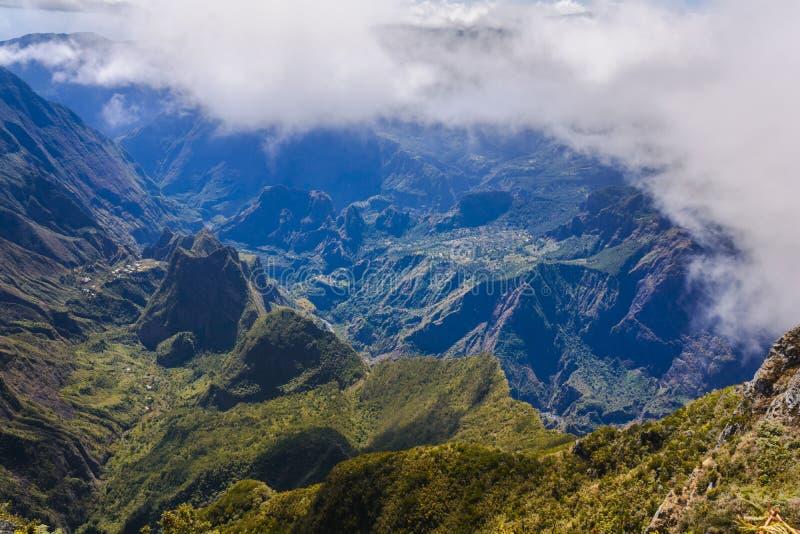 Montanhas de Mafate em Reunion Island imagem de stock