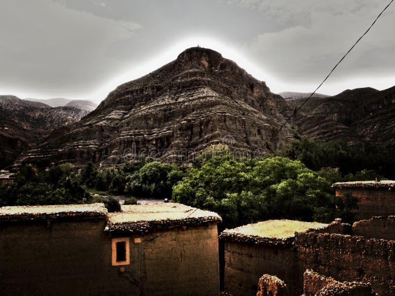 Montanhas de Marrocos do atlas foto de stock