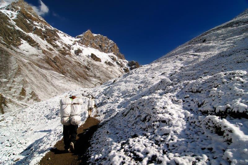 Montanhas de Nepal Himalaya fotografia de stock royalty free