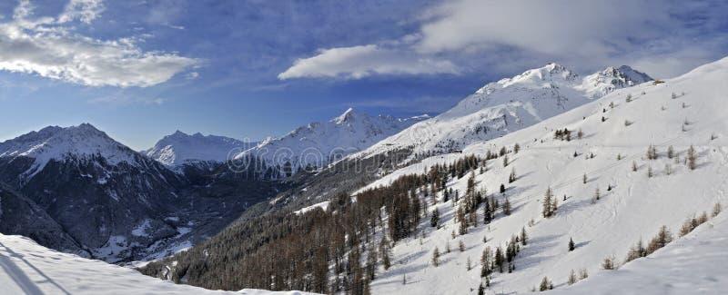 Montanhas de Otztal foto de stock royalty free