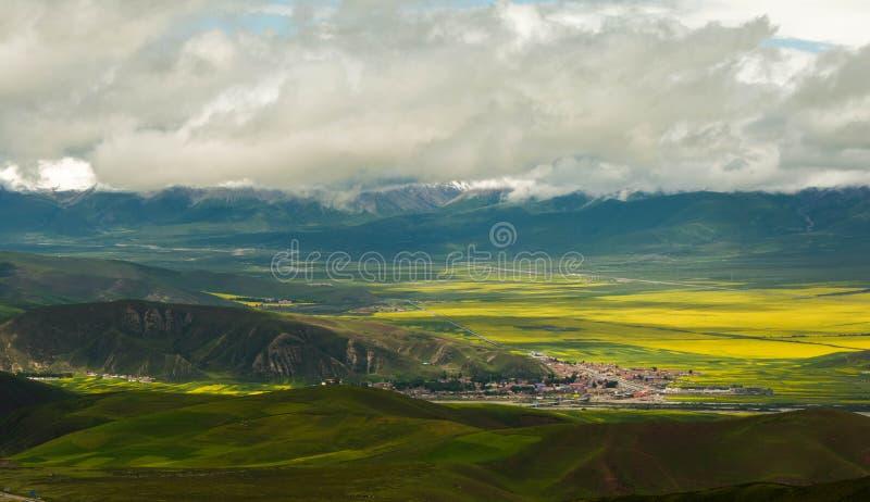 Montanhas de Qilian fotografia de stock
