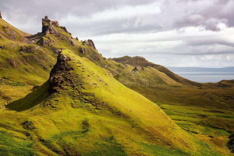 Montanhas de Quiraing fotografia de stock royalty free