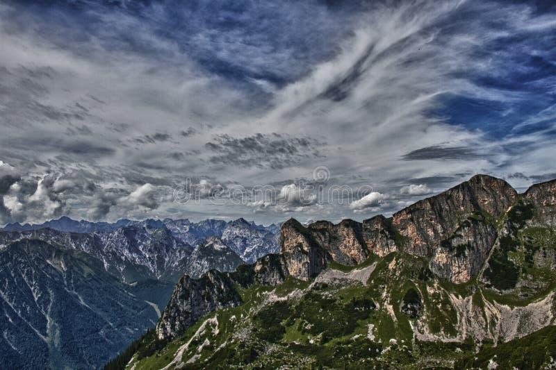 Montanhas de Rofan imagens de stock