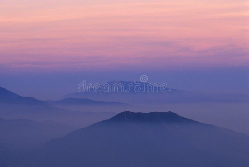 Montanhas de San Bernardino foto de stock royalty free