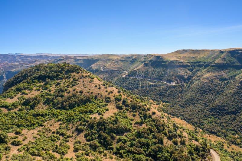 Montanhas de Simien em Etiópia fotografia de stock royalty free