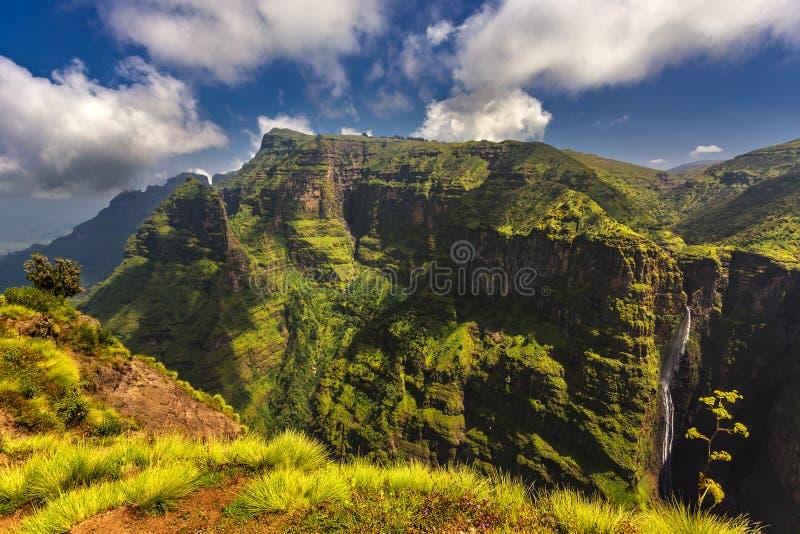 Montanhas de Simien, Etiópia fotografia de stock royalty free