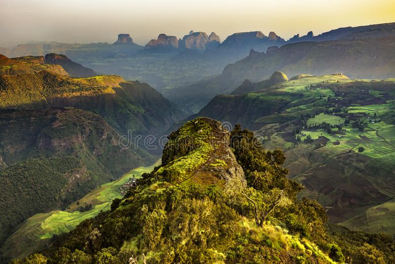 Montanhas de Simien, Etiópia fotos de stock royalty free