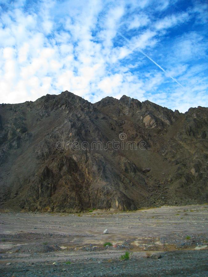 Montanhas de Sinai no Sharm el Sheikh, Egito imagens de stock royalty free