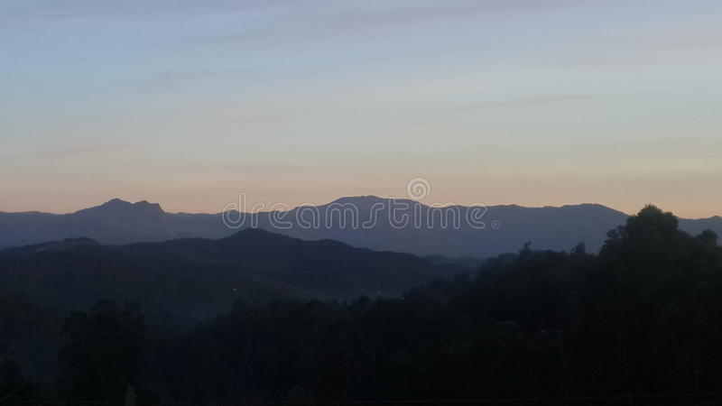 Montanhas de Sri Lanka fotos de stock royalty free