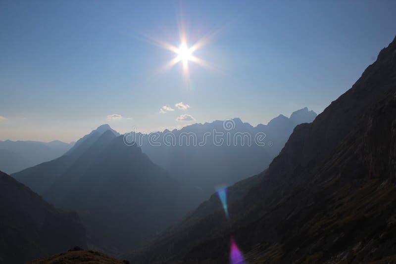 Montanhas de Sun imagem de stock