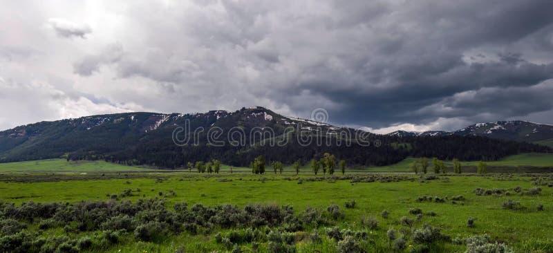 Montanhas de surpresa no parque nacional grande de Teton fotos de stock royalty free