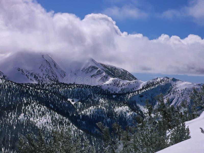 Montanhas de Tahoe no inverno imagens de stock