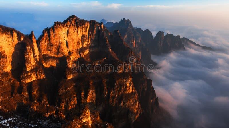 Montanhas de Taihang em China imagem de stock royalty free