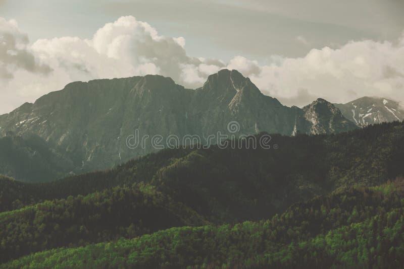Montanhas de Tatry do Polônia na primavera fotografia de stock