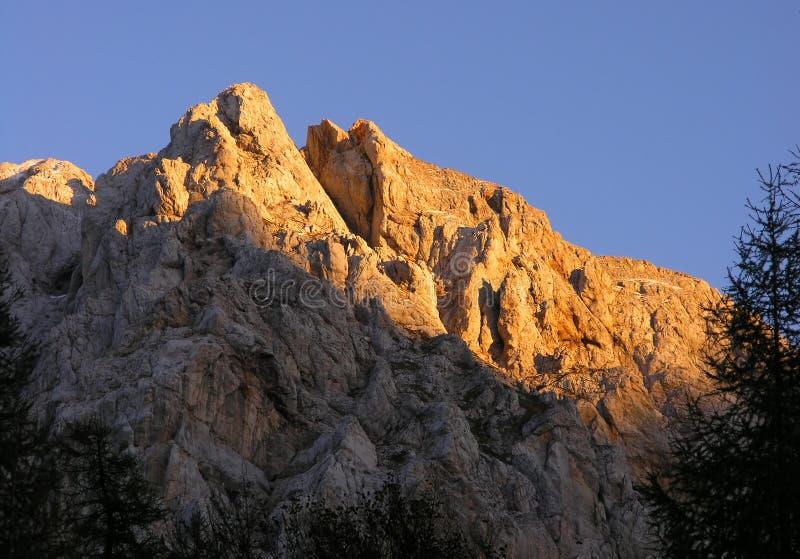 Montanhas de Triglav fotografia de stock royalty free