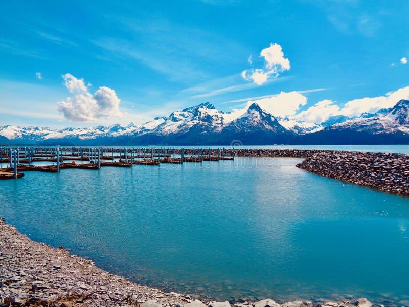 Montanhas do Alasca em Valdez foto de stock royalty free
