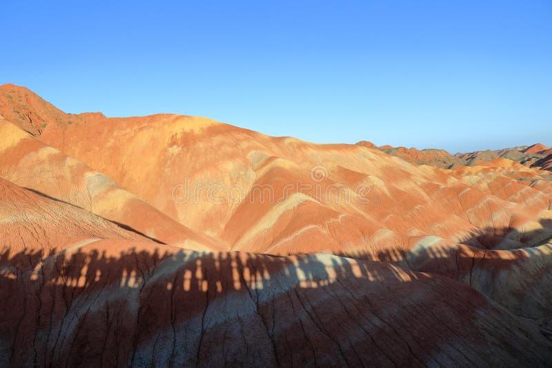 Montanhas do arco-íris, parque Geological do Landform de Zhangye Danxia, Gansu, China fotografia de stock