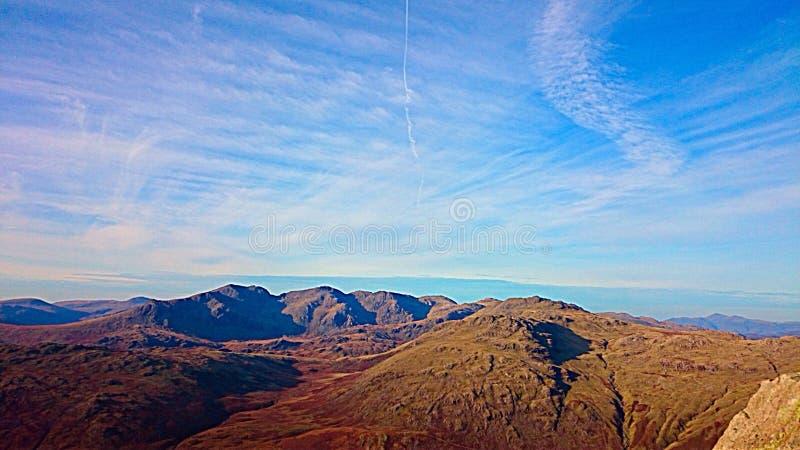 Montanhas do distrito do lago fotos de stock royalty free