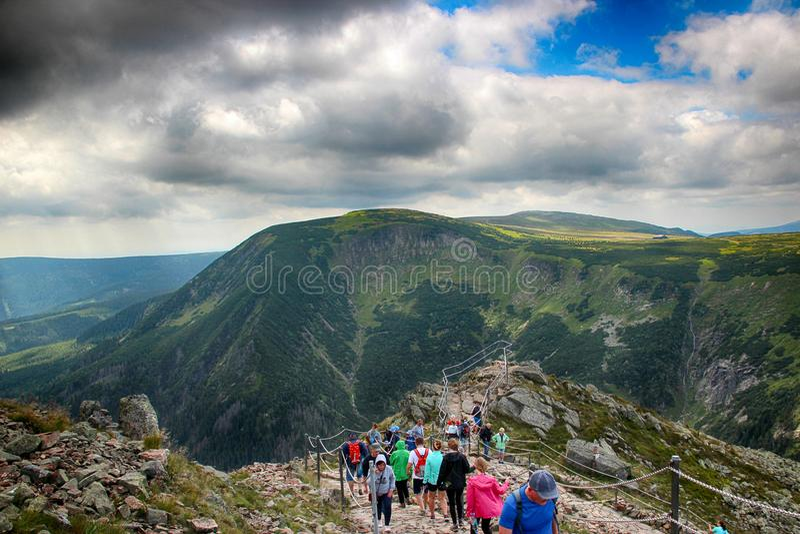 Montanhas do gigante de Snezka- fotografia de stock