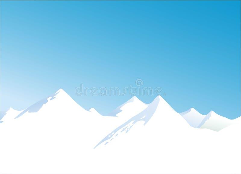Montanhas do inverno ilustração do vetor