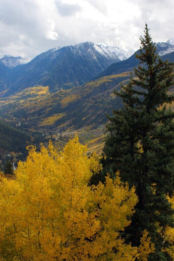 Montanhas do outono fotografia de stock royalty free