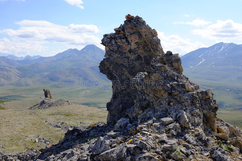 Montanhas do parque nacional de Ivvavik imagem de stock royalty free
