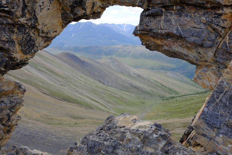Montanhas do parque nacional de Ivvavik fotografia de stock