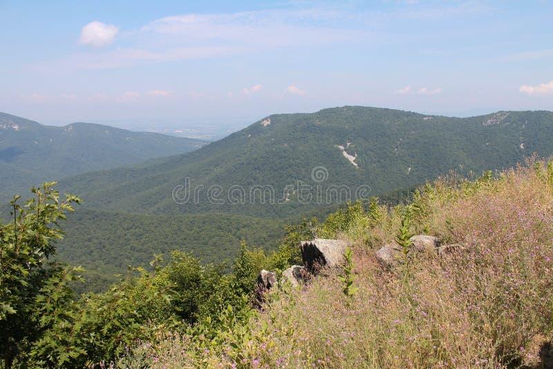 Montanhas do parque nacional de Shenandoah imagens de stock