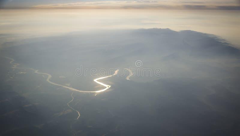 Montanhas do Rio Amarelo e de Taihang fotografia de stock
