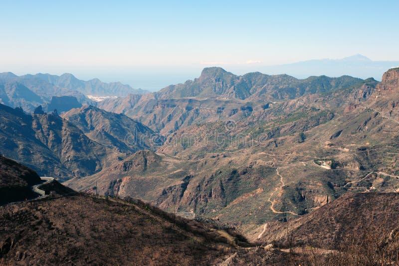 Montanhas dos canarias de Gran fotos de stock royalty free