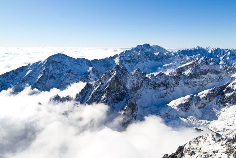 Montanhas elevadas de Tatras imagem de stock royalty free