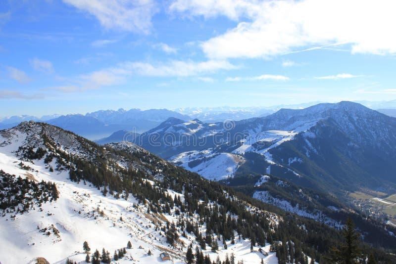 Montanhas em Baviera foto de stock