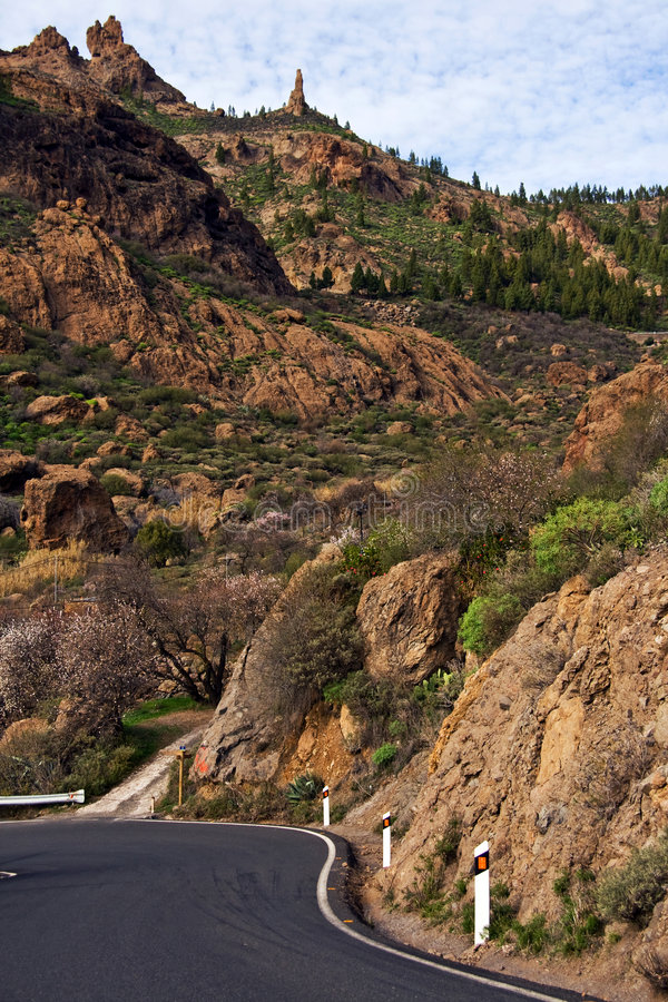 Montanhas em Gran Canaria imagens de stock royalty free