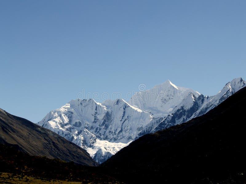 Montanhas em Langtang foto de stock