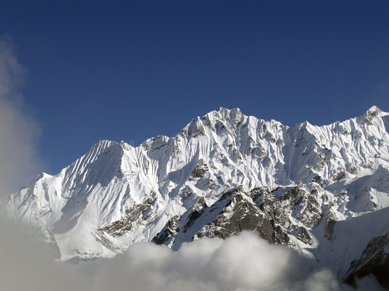 Montanhas em Langtang fotos de stock