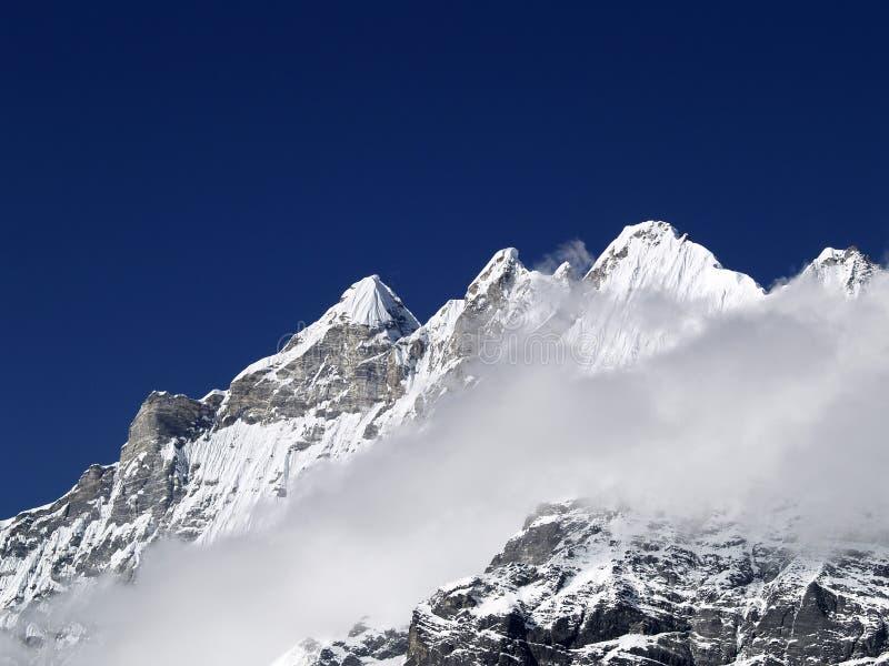 Montanhas em Langtang imagens de stock