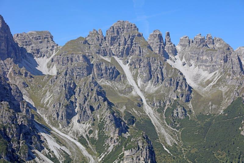 Montanhas em Tirol fotografia de stock royalty free