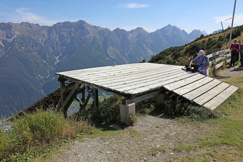 Montanhas em Tirol fotografia de stock