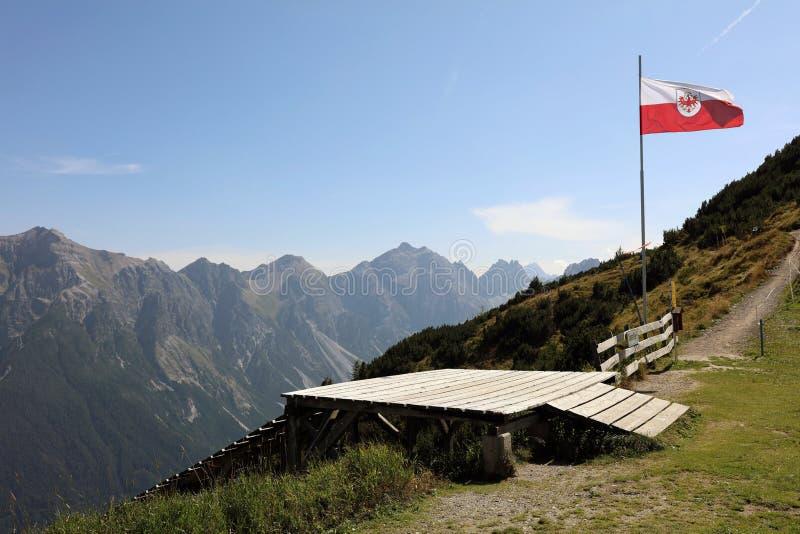 Montanhas em Tirol fotos de stock royalty free