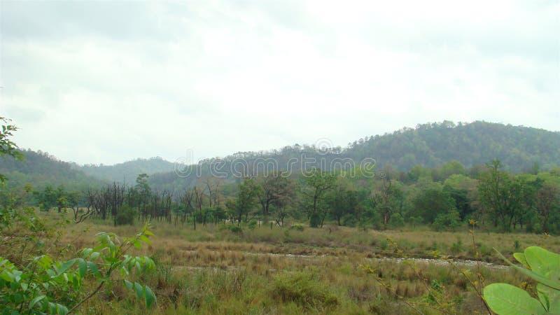 Montanhas em um dia nublado imagens de stock royalty free
