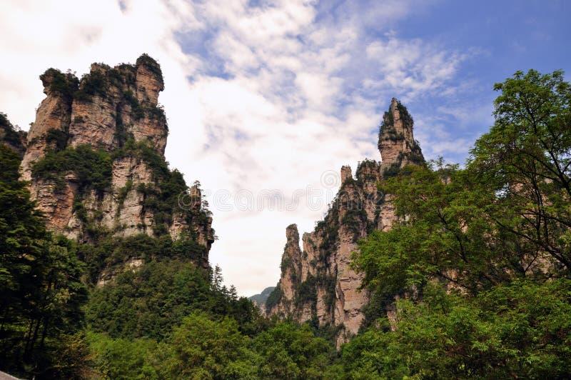 Montanhas em Zhangjiajie, China imagem de stock