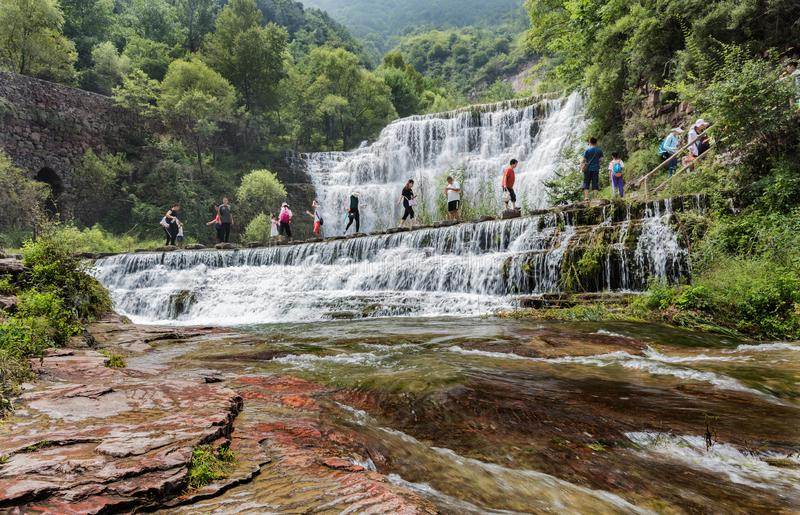 Montanhas Grand Canyon de China Taihang fotos de stock royalty free